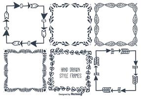 Hand Drawn Vector Frame Set