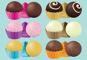 Vecteurs de truffe au chocolat