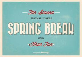 Retro Spring Break Typographic Vector Illustration