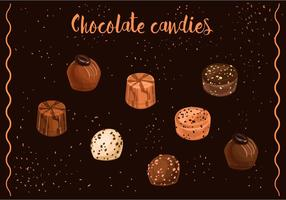 Vectores de los caramelos de chocolate