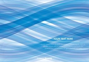 Fundo azul abstrato do vetor da onda azul