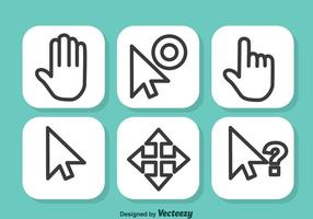 Mouse Cursor Vector Set