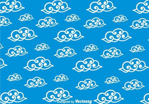 Chinese cloud seamless pattern