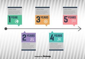 Milestone Infographic Vector