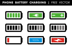 Phone Battery Charging Free Vector