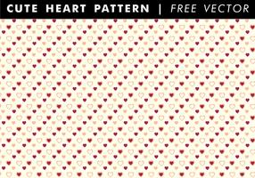 Patrón de corazón lindo vector libre