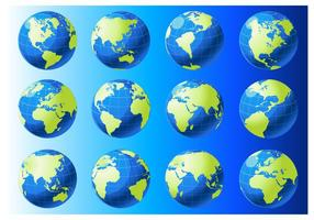 Globe Grid Vektoren
