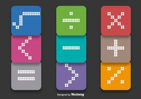 Vetores de símbolos matemáticos