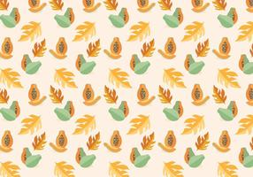 Papaya Vector Pattern