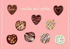 Vector dulces y galletas