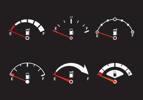 Vector de indicador de combustible