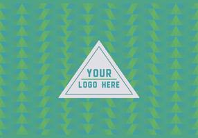 Free Green Geometric Logo Background vector