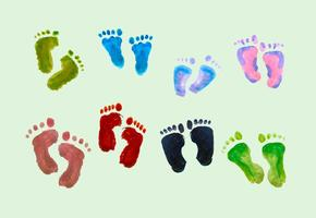 Gratis Vector Paint Baby Footprints