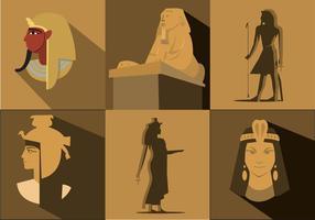 Vecteurs historiques d'Egypte