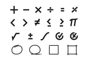 Vector de símbolos matemáticos grátis