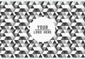 Free Black and White Geometric Logo Background Vector