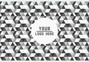 Logotipo geométrico en blanco y negro libre del fondo Vector