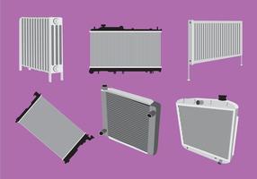 Vário tipo de vetor de radiador