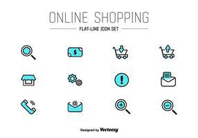 Ícones do vetor UI da loja on-line