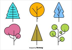 Geometrische Minimale Boom Vectorvormen