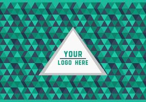 Green Triangle Geometric Logo Background Vector