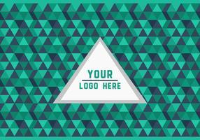 Gratis Groene Driehoek Geometrische Logo Achtergrond Vector