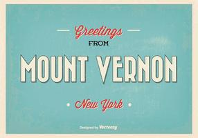 Retro Mount Vernon Greeting Vector Illustration