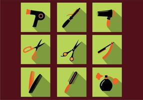Barber Tools Icon Vectors
