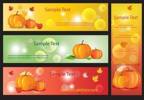 Pompoen Banner Vectoren