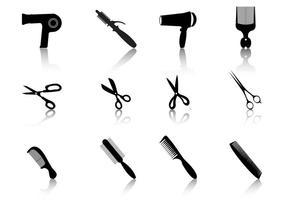Haarstyling vector silhouetten