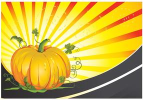 Fond de vecteur Patch Vector Pumpkin