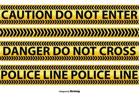 Vectores de la línea de la policía y de la precaución