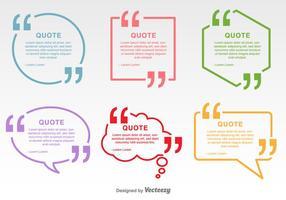 Les citations minimales marquent les étiquettes vectorielles