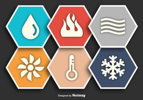 HVAC Flat Vector Icons