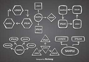 White Mind Map Vector
