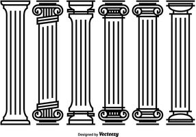Decorative Roman Pillar Vectors