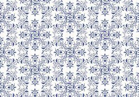 Blå blommig bakgrundsvektor
