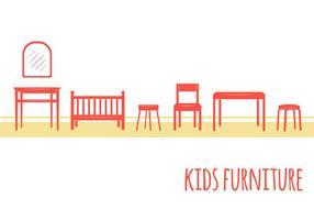 Kinder meubilair iconen