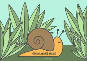 Free vector home sweet home snail