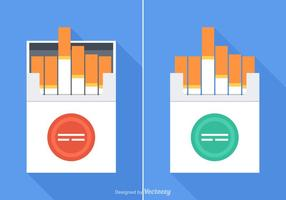 Gratis cigarettpaket Vector Set