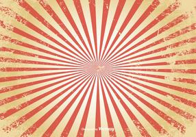 Distressed Sunburst Vector Background