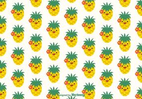 Free Ananas Faces Vector Pattern