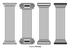 Romeinse Stayle Pillar Vectorvormen