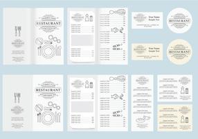 Vettore di menu minimalista