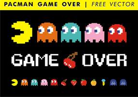 Pacman spel över fri vektor