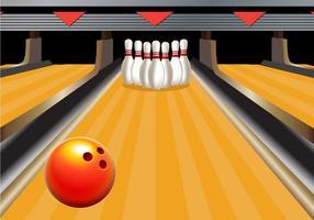 Bowling callejón Vector