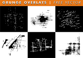 Grunge superposiciones vectoriales gratis