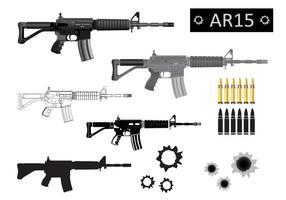 AR15 Vector Silueta