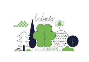 Free Woods Vektor