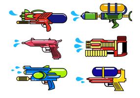 Libre de armas de agua Vector